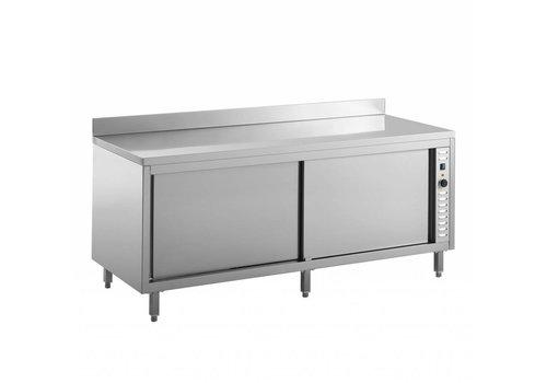 Combisteel Die Platten Wärmeschrank mit Aufkantung | 140x70x85 cm (Imperial)
