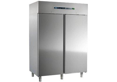 Afinox Kühlschrank Edelstahl | 2-türig | 147x54x209cm