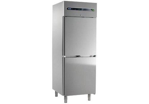 Afinox Catering Kühlschrank mit zwei Türen aus Edelstahl 700 Liter 73x84x209 cm