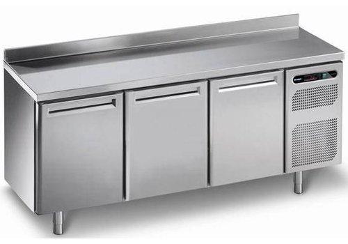 Afinox Kühlwerkbank mit 3 Türen aus Edelstahl | 182 x 70 x 86 cm