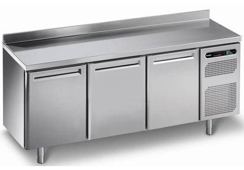 Afinox Refrigerated workbench with 3 doors stainless steel | 182 x 70 x 86 cm