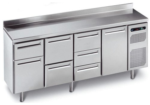 Afinox Cool Workbench stainless steel with 4 doors | 230 x 70 x 90 cm