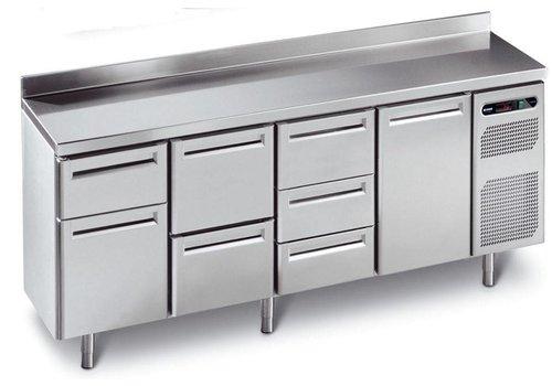 Afinox Geforceerde Vrieswerkbank met 4 deuren   230x70x86 cm