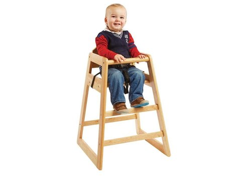 Bolero Horeca Highchair Natural - STACKABLE