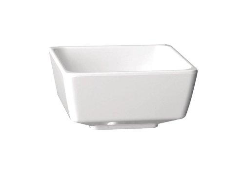 HorecaTraders Melamine square bowl white 5 Formats