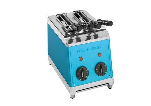 Milan Toast Tosti maker met 2 sneden | blauw