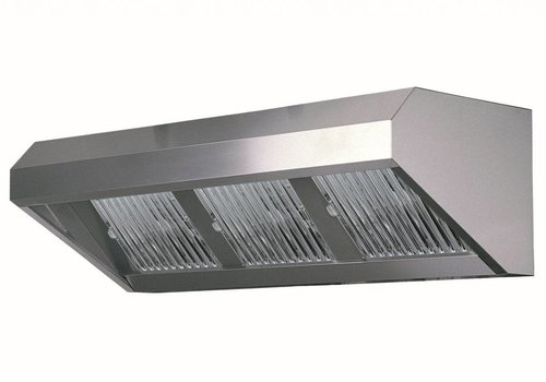 Combisteel Stainless steel hood without motor | 200 x 80 x 60 cm