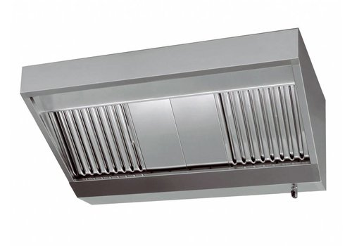 Combisteel Stainless steel housing hood | 200x110x45cm