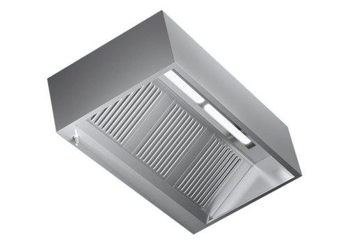 Combisteel Afzuigkap met Verlichting rvs | 160x110x45cm