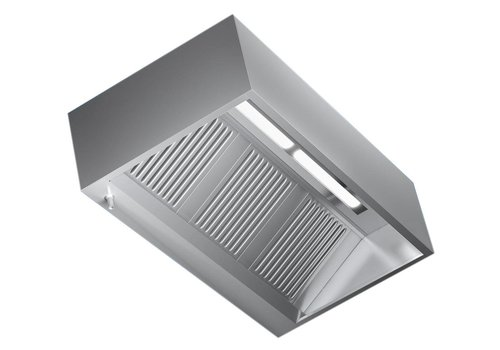 Combisteel Hood with stainless steel Lighting | 160x110x45cm