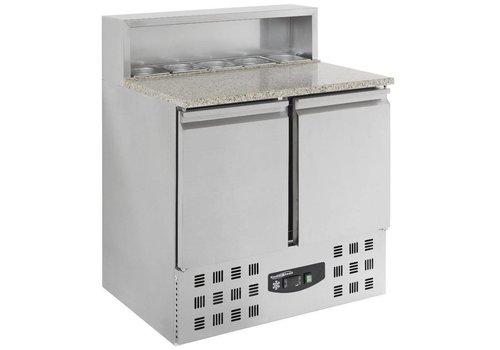 Combisteel Pizza workbench -2 DOORS 90x70x110 cm