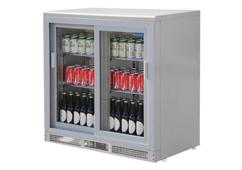Polar Cooled silver bardisplay with 2 doors