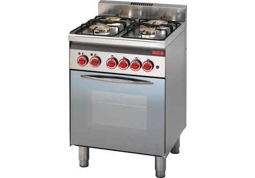 Gastro-M Gas stove with gas oven | 4 Burners