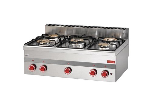 Gastro-M Tabletop stainless steel stove 15,5kW | 5 Burners