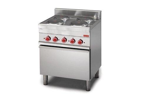 Gastro-M Elektrisch Fornuis met Oven | 4 Kookplaten