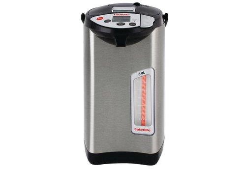 Caterlite Elektrische pompkan 5 liter inox