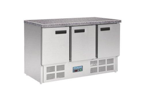 Polar Gekühlte Werkbank mit Arbeitsplatte aus Marmor | 88 x 137 x 70 cm