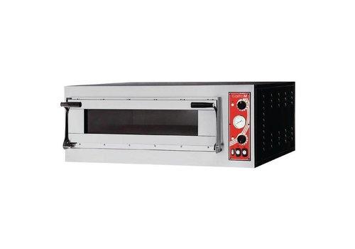 Gastro-M RVS Pizzaoven 1 Ovenkamer 3000 Watt | 4 Pizza's
