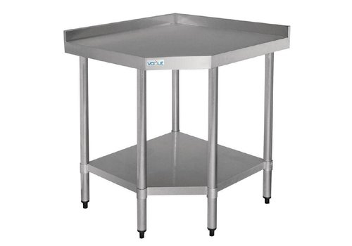 Vogue Stainless Steel Corner Table 90 (H) x 70 x 96 cm