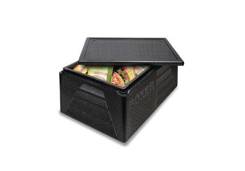 HorecaTraders Thermobox Polypropylen   schwarz