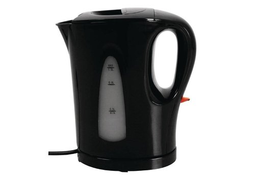 Caterlite Hotelkamer waterkoker 1 liter zwart