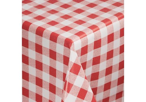 HorecaTraders PVC tablecloths Red checkered | 4 Sizes