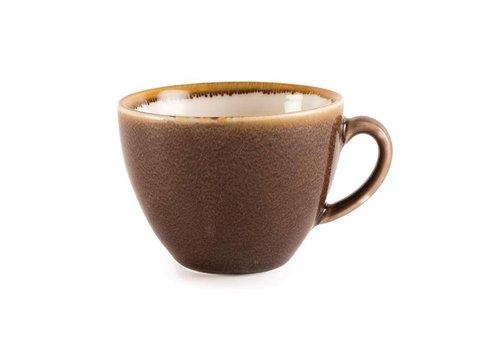 Olympia Bruine porselein cappuccinokopjes 23cl (6 stuks)