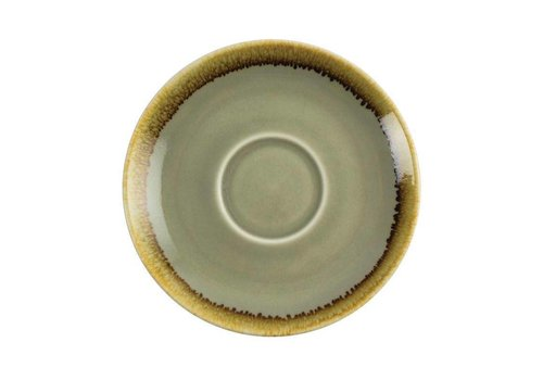 Olympia Moss green porcelain cappuccino dishes 14cm (6 pieces)