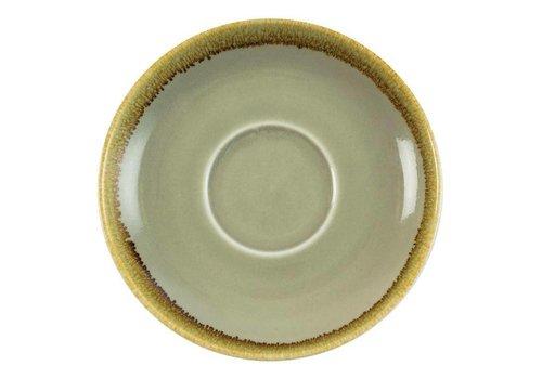Olympia Mosgroene porselein cappuccinoschotels 16cm (6 stuks)