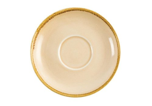 Olympia Sandstone porcelain cappuccino dishes 16cm (6 pieces)