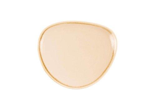 Olympia Sandstein Porzellan dreieckige Platten von 16,5 cm (6 Stück)