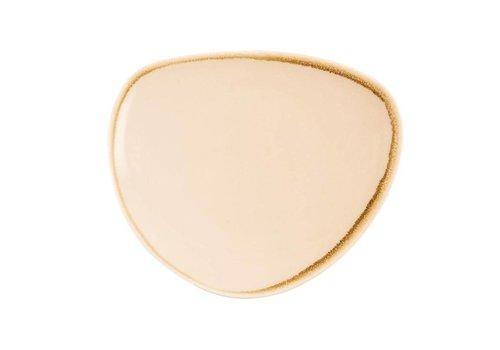 Olympia Zandsteen porselein driehoekige borden 23cm (6 stuks)