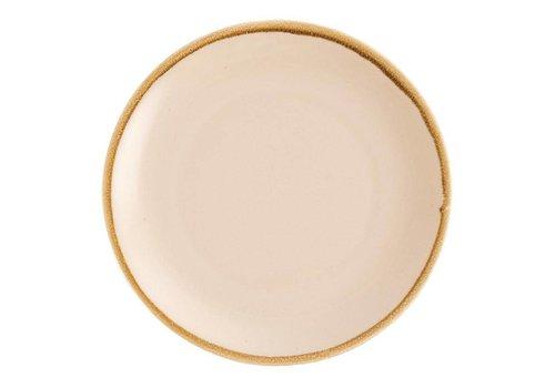 Olympia Sandstein Porzellan Round coupe Platten 28cm (4 Stück)
