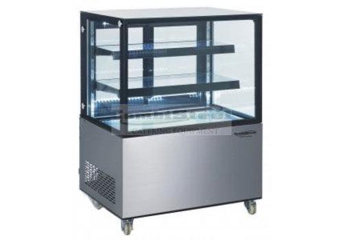 HorecaTraders Glasverkaufsvitrine | 92 x 68 x 127 cm