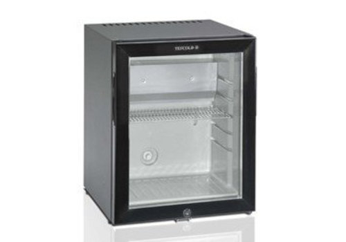 HorecaTraders Kleine Koelkast met glazen deur 31 liter | 402 x 406 x 500 mm