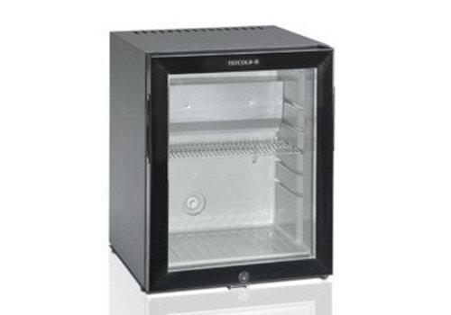 HorecaTraders Kleiner Kühlschrank mit Glastür schwarz - 41 Liter