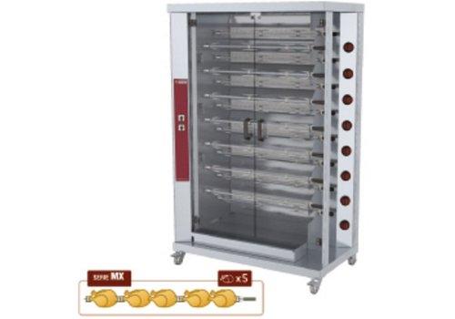 Diamond Chicken grill Gas 15 Spits | 75 Chickens
