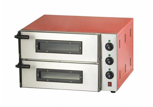 Combisteel Dual Pizzöfen 3000 Watt | 2 Pizzen