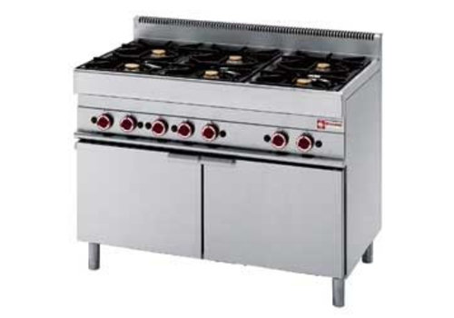 Diamond Built-in stove with gas oven | 6 Burners