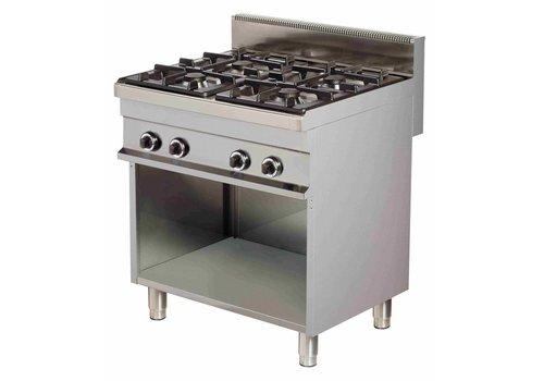 Combisteel Gas stove Open Frame | 4 x 6 kW Burners
