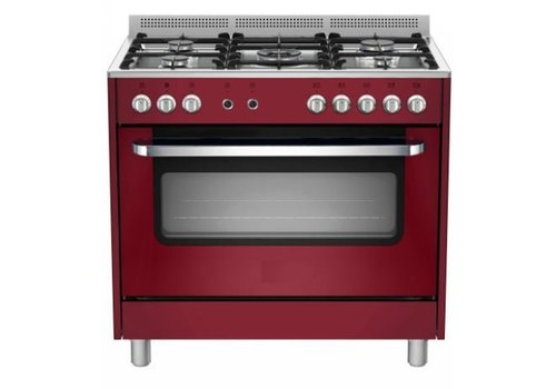 Saro Stovetop Red Electric Oven and Grill | 5 Burners