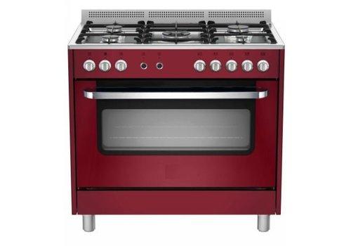 Saro Stovetop Red Elektro-Ofen und Grill | 5 Brenner