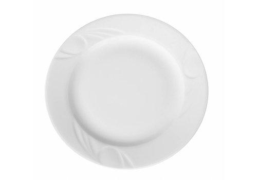 Hendi Wit Porselein Borden | 16cm (6 stuks)