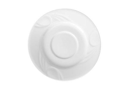 Hendi Untertasse für Kaffeetasse Weiß | 15 cm (6 Stück)