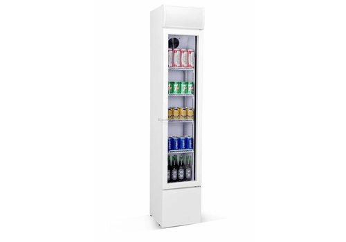 Combisteel Fridge with glass door | 105 liter