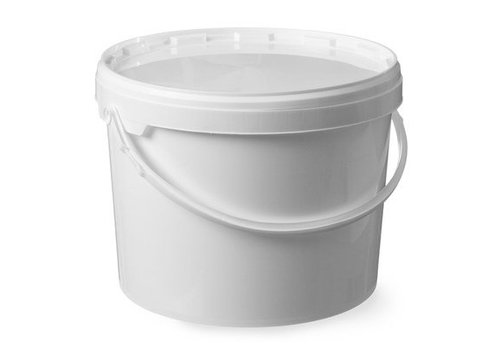 HorecaTraders Witte emmer met deksel | 11,5 liter
