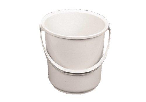 HorecaTraders Weiße Kunststoff-Eimer 10 Liter