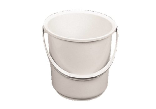 HorecaTraders White plastic bucket 10 liters