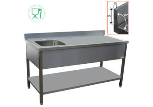 Diamond Sink with sink Links | 2 Sizes | stainless steel