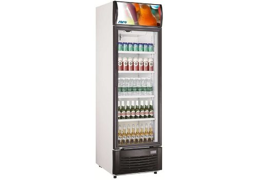 Saro Cans Fridge with Glass Door 282 L